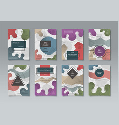 set brochure templates covers vector image