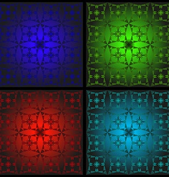 Set of patterns for stained glass vector image