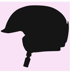 Ski helmet vector