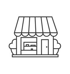 small shop linear icon vector image