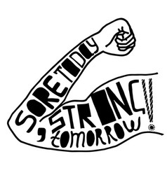 Sore today lettering vector