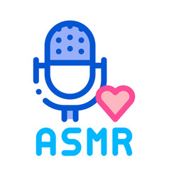 Sound in microphone asmr icon outline vector