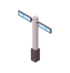 subway station post vector image