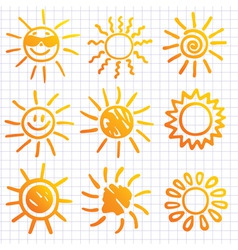 suns elements for design do vector image