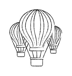Three airballoons travel recreation tourism vector