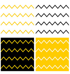 Tile pattern set with zig zag chevron vector
