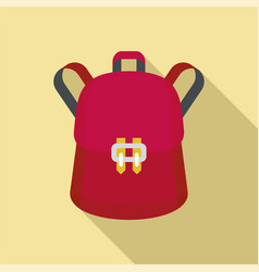 trendy backpack icon flat style vector image