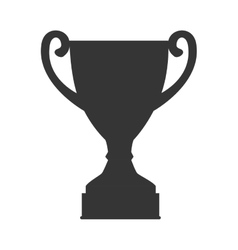 trophy cup champion icon vector image