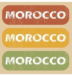 Vintage Morocco stamp set vector