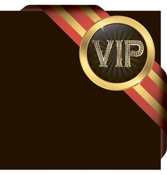 VIP Gold Ribbon Label vector