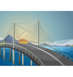 A long bridge vector image vector image