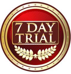 Seven day trial icon vector