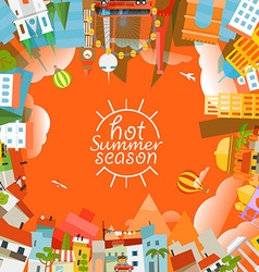 Travel concept hot summer season vector