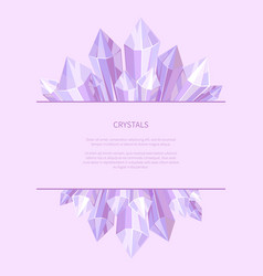 crystals of purple color vector image vector image
