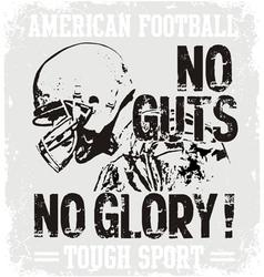 Football Guts vector image