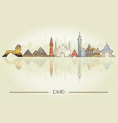 historic cairo architecture vector image vector image