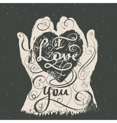I love you Romantic inspiration quote vector image vector image