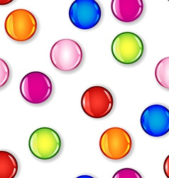 Seamless glossy colorful circle with shadow vector image vector image