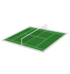 volley ball ground vector image vector image