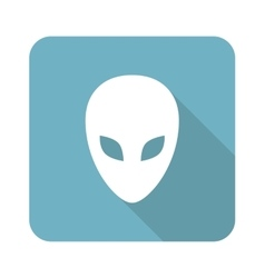 Alien square icon vector image vector image