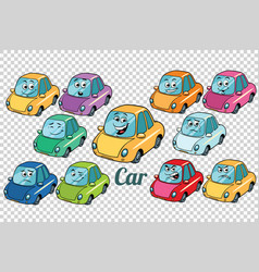 car vehicle automobile collection set neutral vector image vector image
