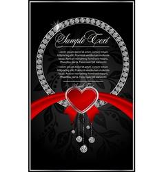 diamond greeting card vector image vector image