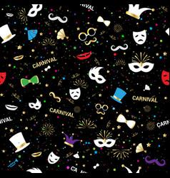 handmade venetian carnival face mask party vector image