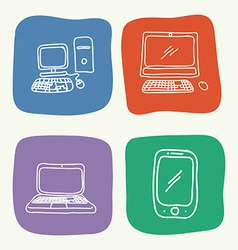 gadgets drawn vector image