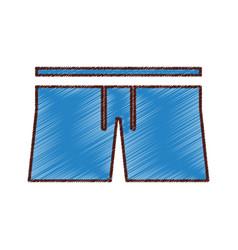 male swimwear isolated icon vector image