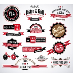 Restaurant Labels vector image