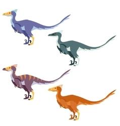 Set of raptors vector image vector image