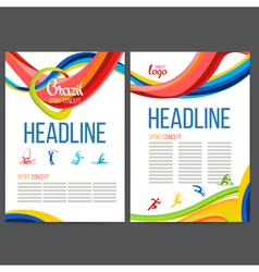 template design strips of colored rings and vector image vector image