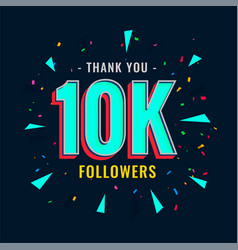 10k social followers and subscribers template vector