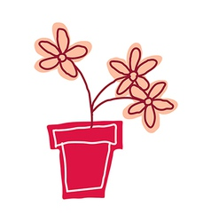 A view of flower pot vector