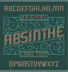Absinthe label font vector