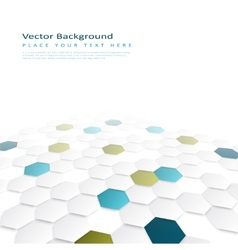Abstract background with color hexagons vector