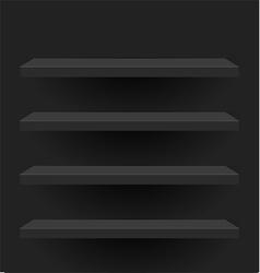 Black shelves design vector
