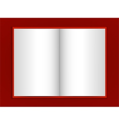 blank book on red background vector image