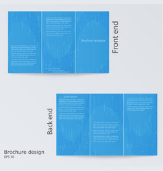 blue brochure template design layout brochures vector image