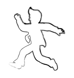 businessman running silhouette vector image