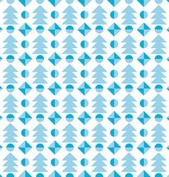 Christmas tree seamless pattern festive vector image