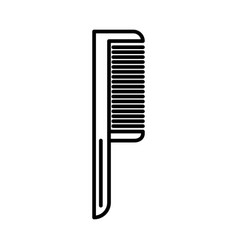 comb one line icon sign on vector image