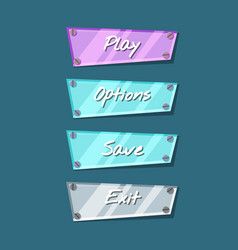 cool shiny computer game menu interface collection vector image