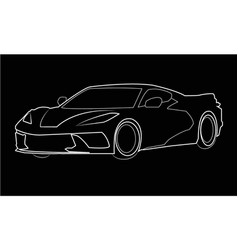 Corvette sagoma vector