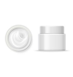 cosmetic cream containers cream container vector image
