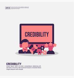 Credibility concept for presentation promotion vector