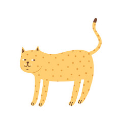 cunning cute spotted cat flat vector image