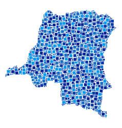 democratic republic of the congo map composition vector image