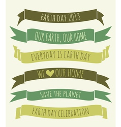 Earth day banners collection vector