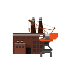 Factory and industrial crane icon vector